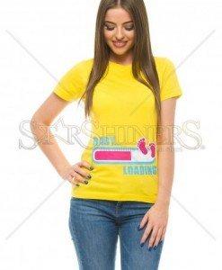 Tricou Baby Loading Yellow - Tricouri -