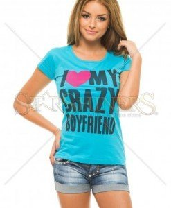 Tricou Crazy Couple Blue - Tricouri -