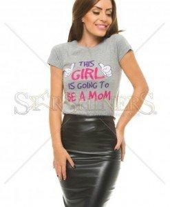 Tricou Happy Mommy Grey - Tricouri -