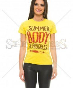 Tricou Summer Outfit Yellow - Tricouri -