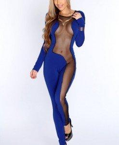 U331-4 Salopeta lunga cu decupaje din plasa - Costume de dansatoare - Haine > Haine Femei > Costume Animatie > Costume de dansatoare