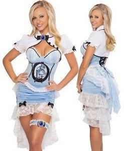 V218 Costum Halloween Alice in Tara Minunilor - Basme si Legende - Haine > Haine Femei > Costume Tematice > Basme si Legende
