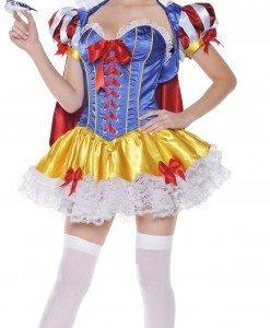 V85 Costum Halloween Alba ca Zapada - Basme si Legende - Haine > Haine Femei > Costume Tematice > Basme si Legende