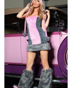 W149 Costum Halloween elefant roz - Animalute - Haine > Haine Femei > Costume Tematice > Animalute