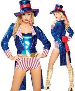 W210 Costum tematic Uncle Sam - Altele - Haine > Haine Femei > Costume Tematice > Altele