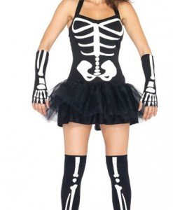 X201 Costum Halloween model anatomic schelet - Altele - Haine > Haine Femei > Costume Tematice > Altele