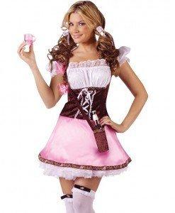 X213 Costum Halloween hangita - Chelnerita - Haine > Haine Femei > Costume Tematice > Chelnerita