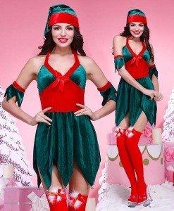 XM273-12 Costum tematic craciunita sexy - Costume de craciunita - Haine > Haine Femei > Costume Tematice > Costume de craciunita