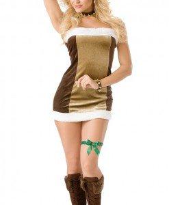 XM280 Costum tematic Craciun ren sexy - Costume de craciunita - Haine > Haine Femei > Costume Tematice > Costume de craciunita