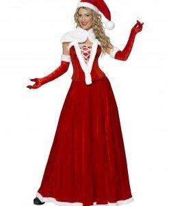 XM282 Costum tematic sotia lui Mos Craciun - Costume de craciunita - Haine > Haine Femei > Costume Tematice > Costume de craciunita