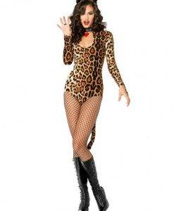 Y208 Costum Halloween - body felina - Animalute - Haine > Haine Femei > Costume Tematice > Animalute