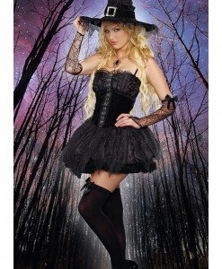 Y308-1 Costum Halloween vrajitoare rea - Vrajitoare - Vampir - Haine > Haine Femei > Costume Tematice > Vrajitoare - Vampir