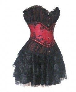 Z218 Compleu din corset cu fusta - Corsete cu fusta - Haine > Haine Femei > Corsete > Corsete cu fusta