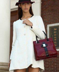 BL152-2 Palton cu maneci lungi si nasturi in fata - Geci si Paltoane - Haine > Haine Femei > Geci si Paltoane