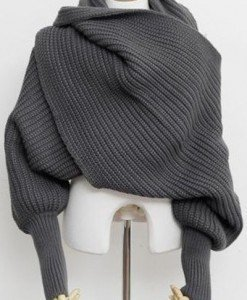 BL562-18 Sal tricotat multifunctional (utilizat si ca fular) - Esarfe - Haine > Haine Femei > Accesorii > Esarfe
