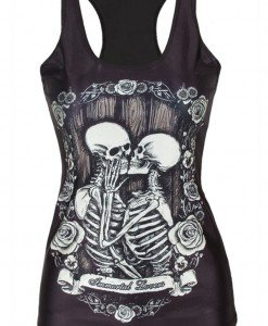 BL597 Maieu casual cu model anatomic schelet - Immortal Lovers - Altele - Haine > Haine Femei > Costume Tematice > Altele