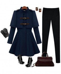 BL617-4 Palton model army - Geci si Paltoane - Haine > Haine Femei > Geci si Paltoane