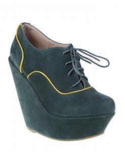 Botine Adnana verzi - Home > Pantofi -