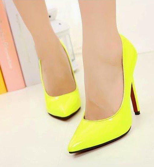 CH2237-1 Pantofi stiletto din lac cu toc inalt – Pantofi Dama – Incaltaminte > Incaltaminte Femei > Pantofi Dama