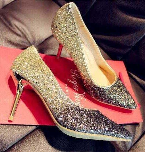 CH2312-7 Pantofi eleganti cu varf ascutit si insertii aurii – Pantofi Dama – Incaltaminte > Incaltaminte Femei > Pantofi Dama