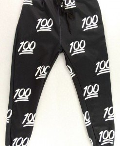 CL409-1 Pantaloni lungi Emoji Jogger cu elastic in talie si model - Pantaloni Lungi - Haine > Haine Femei > Pantaloni Dama > Pantaloni Lungi