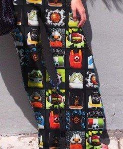 CL426 Pantaloni largi de vara cu print Palazzo - Pantaloni Lungi - Haine > Haine Femei > Pantaloni Dama > Pantaloni Lungi