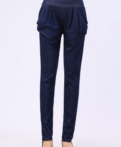 CL448-44 Pantaloni lungi cu buzunare model harem - Pantaloni Lungi - Haine > Haine Femei > Pantaloni Dama > Pantaloni Lungi