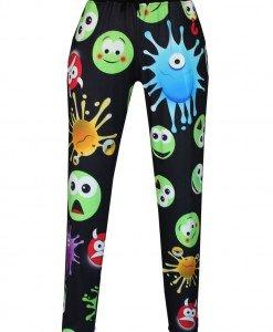 CL498-1 Pantaloni largi de trening cu model Emoji - Pantaloni Lungi - Haine > Haine Femei > Pantaloni Dama > Pantaloni Lungi