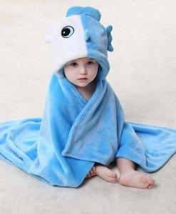 CLD92-4 Paturica pentru copii cu model zodia Pesti - Costume tematice - Haine > Haine Copii > Costume tematice