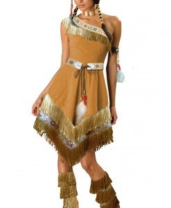 F317 Costum Halloween indian - Cowboy - Indian - Haine > Haine Femei > Costume Tematice > Cowboy - Indian
