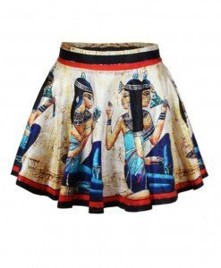 FS84 Fusta scurta cu model egiptean - Fuste - Haine > Haine Femei > Fuste