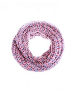 Fular circular Macy pink grey - Genti > Accesorii -