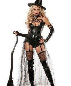 H425-1 Costum tematic Halloween - vrajitoarea cea rea - Vrajitoare - Vampir - Haine > Haine Femei > Costume Tematice > Vrajitoare - Vampir