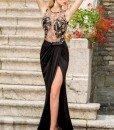 N334-1 Rochie eleganta de ocazie cu crapatura pe picior - Rochii de seara - Haine > Haine Femei > Rochii Femei > Rochii de seara