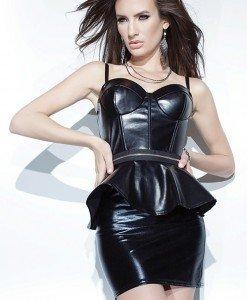 P415-1 Rochie sexy din latex