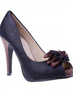 Pantofi Beyonce negru/maro - Home > Pantofi -