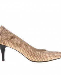 Pantofi Stiletto din piele Dania sarpe - Home > Pantofi -