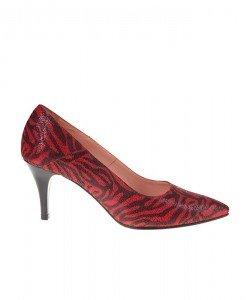 Pantofi Stiletto din piele leopard Dina - Home > Pantofi -