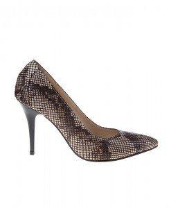 Pantofi Stiletto din piele naturala Anaconda - Home > Pantofi -