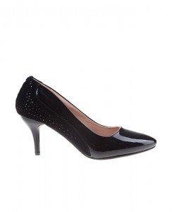 Pantofi Stiletto din velur cu lac Azalea - Home > Pantofi -