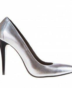Pantofi Stilletto argintii - Home > Pantofi -