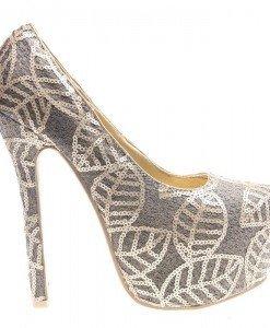 Pantofi cu paiete gold Juandalynn - Home > Pantofi -