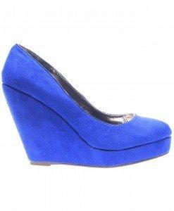 Pantofi dama albastri Coral - Home > Pantofi -