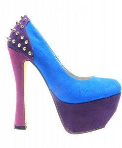 Pantofi dama albastri Spider - Home > Pantofi -