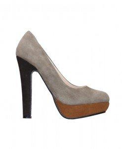 Pantofi dama khaki Helen - Home > Pantofi -