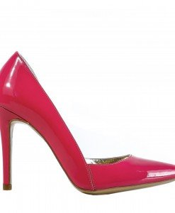 Pantofi decupati interior lac corai cangur - Home > SOld OUT -