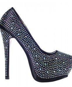 Pantofi glamour negri Calina - Home > Pantofi -