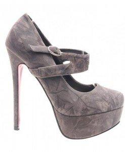 Pantofi gri cu bareta peste picior Jens - Home > Pantofi -