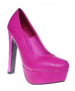 Pantofi platforma Bombone cyclam - Home > Pantofi -