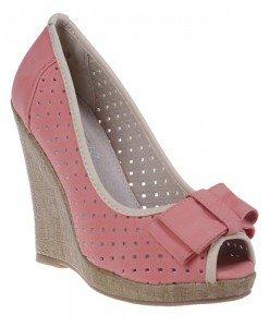Pantofi platforma Catinca corai - Home > Pantofi -